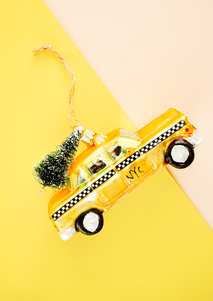 Christmas Taxi Ornament