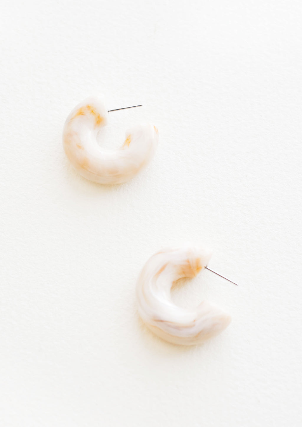 Chunky Resin Hoop Earrings