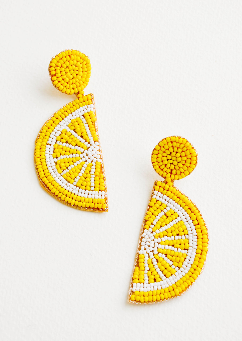 Citrus Beaded Earrings in Lemon - LEIF