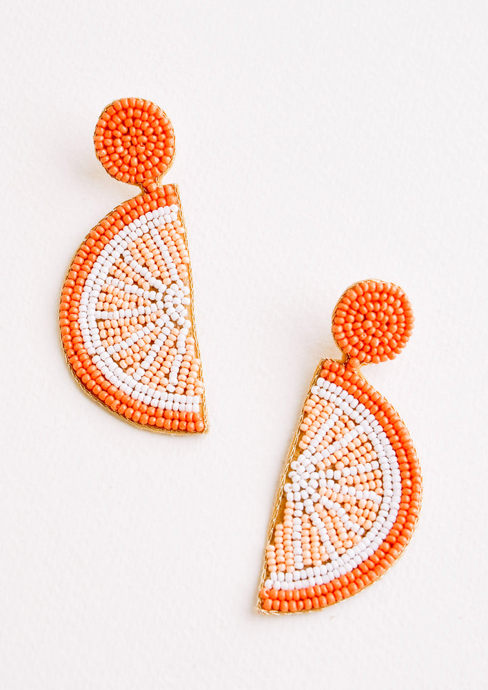 Citrus Beaded Earrings in Orange - LEIF