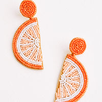 Orange: Citrus Beaded Earrings in Orange - LEIF