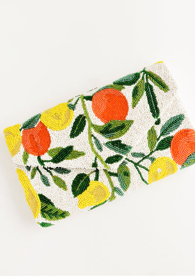 Citrus Grove Beaded Clutch