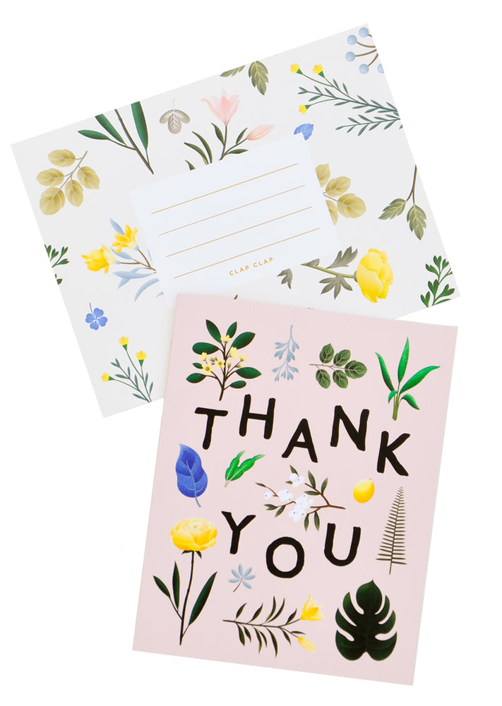 3: Botanical Floral Thank You Card in  - LEIF