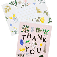 Botanical Floral Thank You Card - LEIF