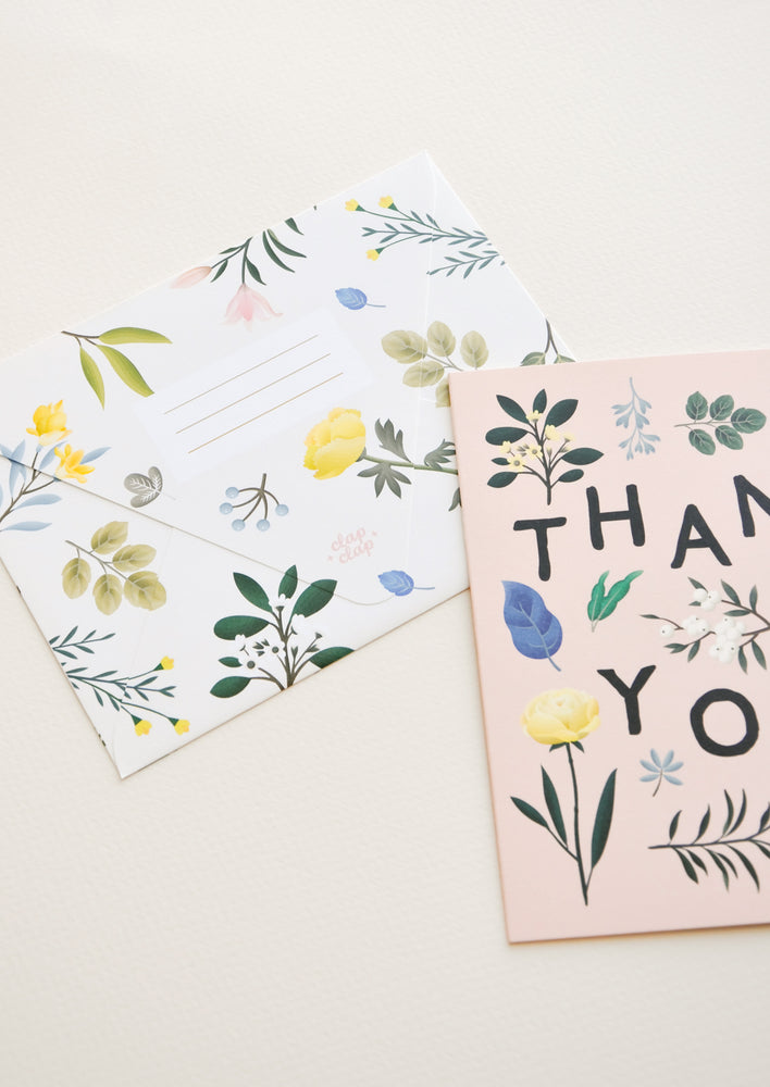 2: Botanical Floral Thank You Card in  - LEIF
