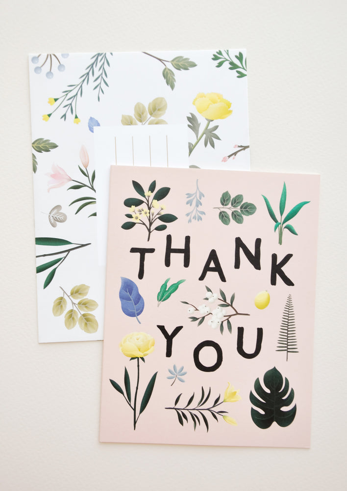 1: Botanical Floral Thank You Card in  - LEIF