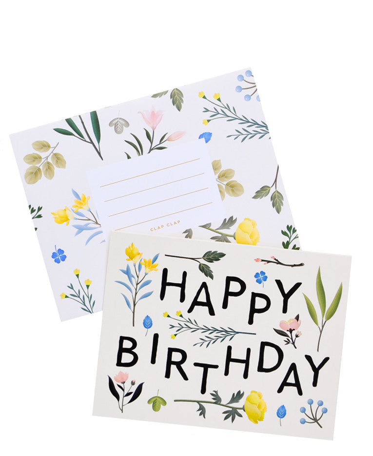 Botanical Floral Birthday Card - LEIF