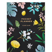 Black: Botanical Pocket Planner in Black - LEIF