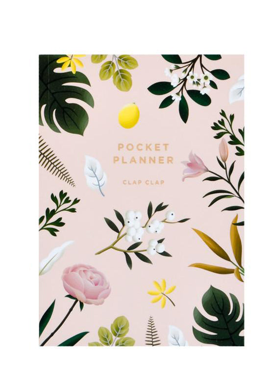 Pink: Botanical Pocket Planner in Pink - LEIF