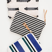 Clare Fabric Zip Pouch in  - LEIF