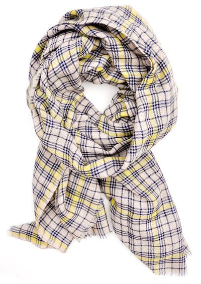 Classic Check Wool Scarf - LEIF