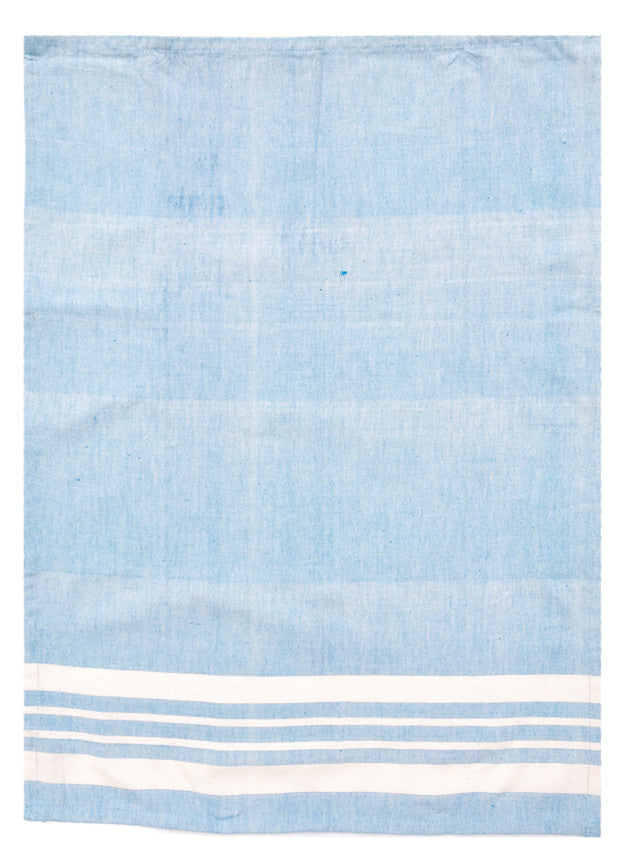 Sky: Classic Stripe Tea Towel in Sky - LEIF