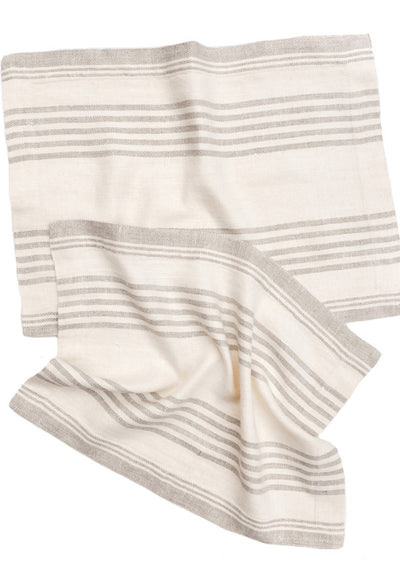 Classic Stripe Linen Placemat Set
