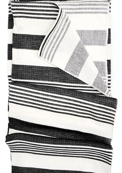 Classic Stripe Throw in Charcoal - LEIF