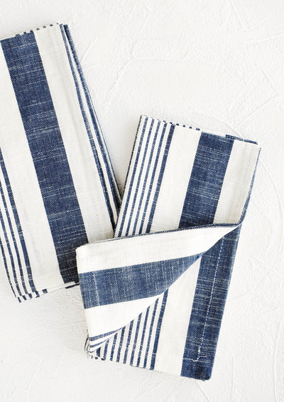 Classic Stripe Cotton Napkin Set