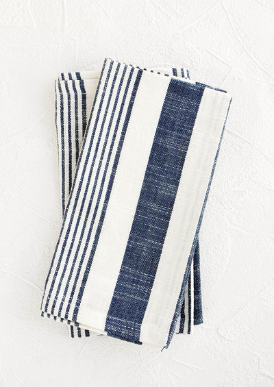 Classic Stripe Cotton Napkin Set hover