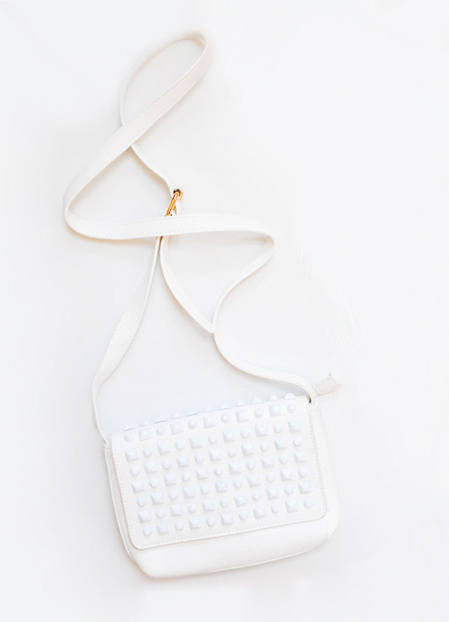 Coated Pyramid Stud Crossbody Bag - LEIF