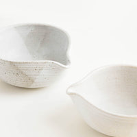 Rustic Ceramic Spouted Bowl in  - LEIF