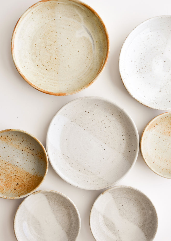 5: Rustic Ceramic Dinner Bowls in Assorted Glazes - LEIF