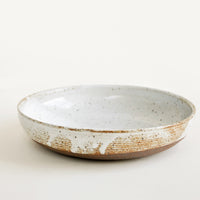 Glossy White: Rustic Ceramic Dinner Bowl in Glossy White - LEIF