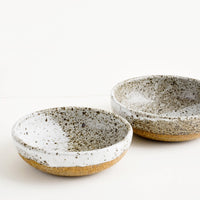 Rustic Ceramic Yogurt Bowl in Very Speckled Matte Grey - LEIF
