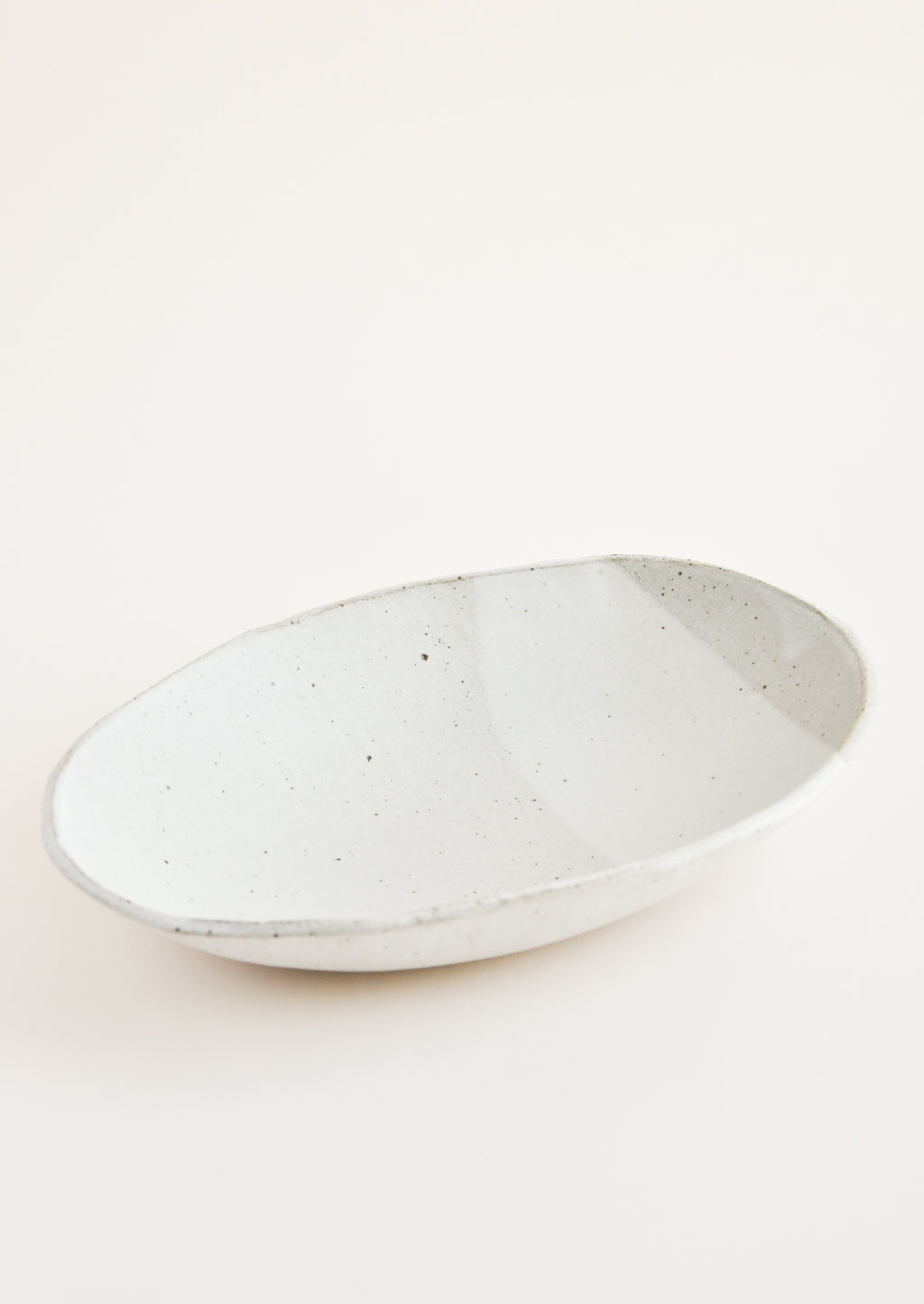 Matte Grey: Rustic Ceramic Platter in Matte Grey - LEIF