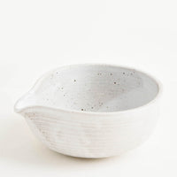 Rustic Ceramic Spouted Bowl in Matte Grey - LEIF