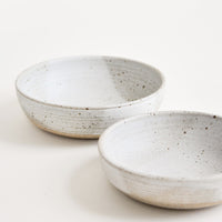 Rustic Ceramic Yogurt Bowl in Matte Grey - LEIF