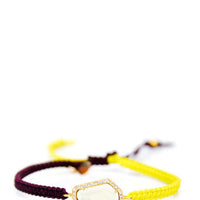 Color Cord Gem Bracelet - LEIF