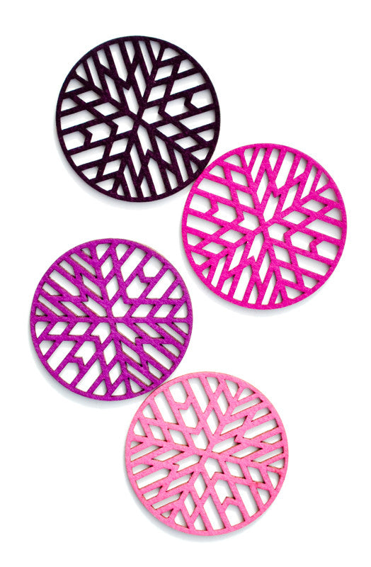 Color Cutout Round Coasters - LEIF