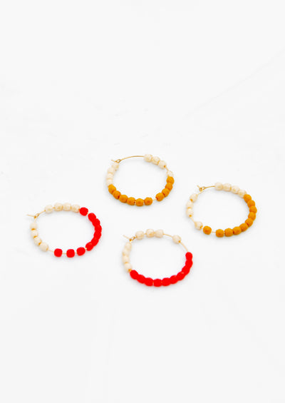 Color Dip Mini Hoop Earrings