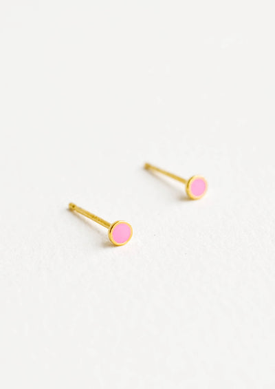 Color Dot Enamel Stud Earrings hover