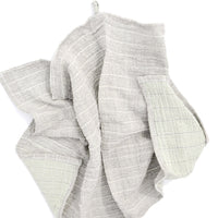 Smoke Green: Color Duo Hand Towel in Smoke Green - LEIF
