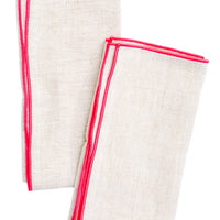 Color Trim Linen Napkin Set - LEIF