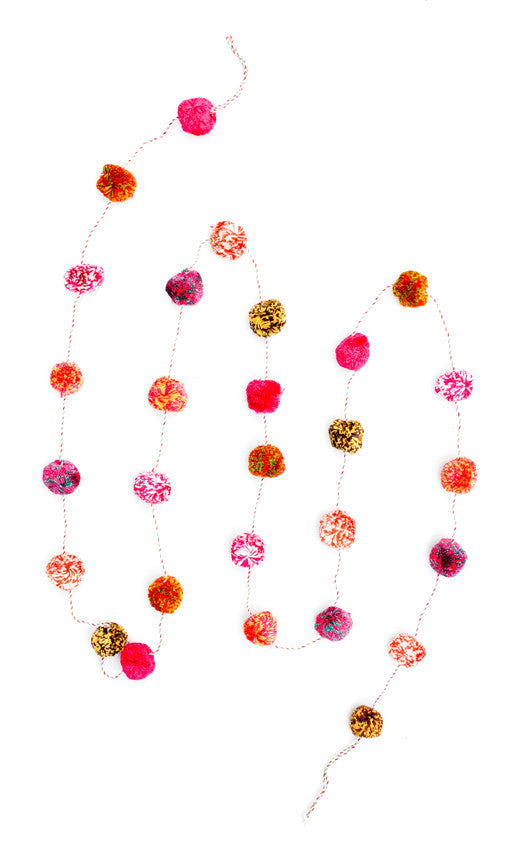 Color Mix Pompom Garland - LEIF