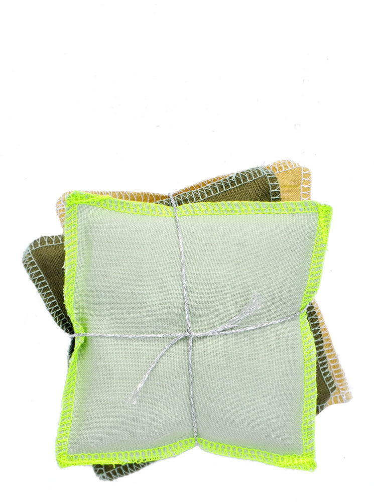 Earthy Green / Balsam: Color Stack Sachet Set in Earthy Green / Balsam - LEIF