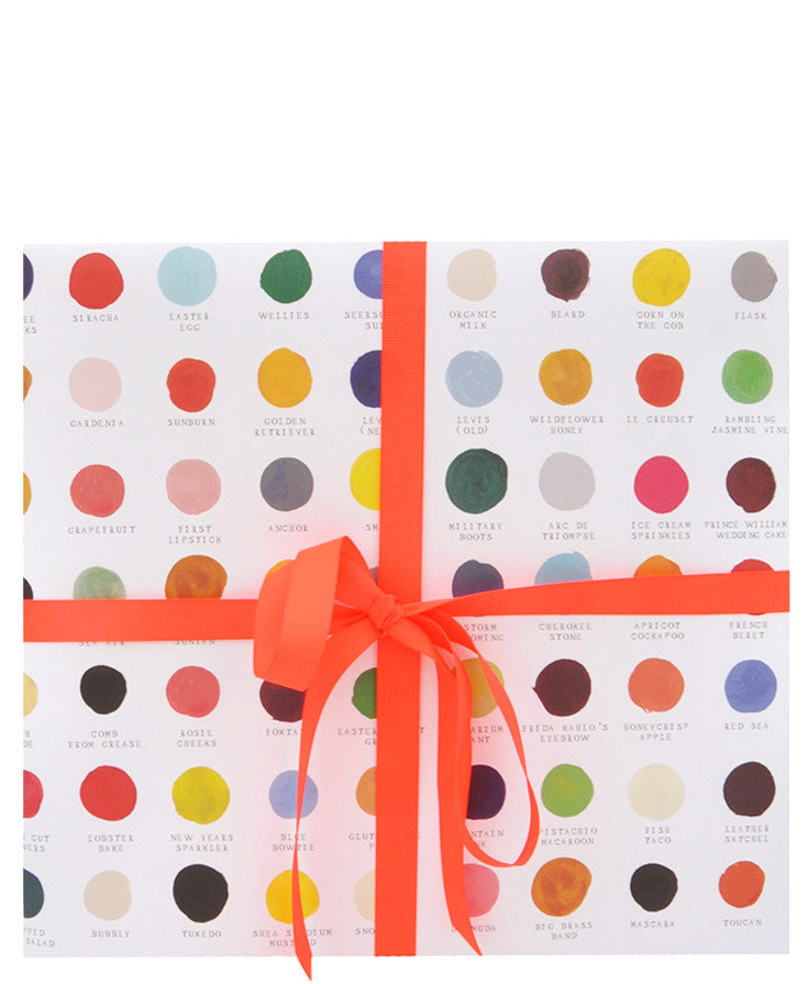 Color Swatches Wrapping Paper - LEIF