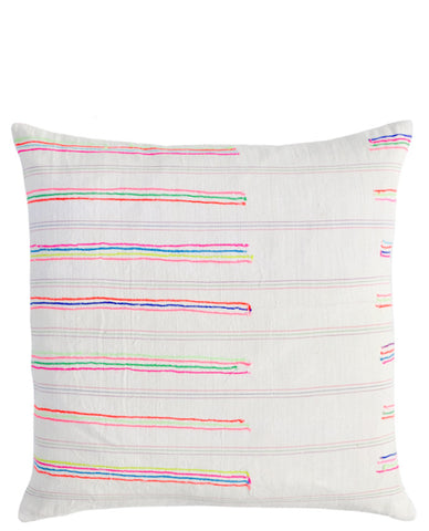 Stitch Stripe Pillow, 16""