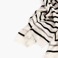 2: Concentric Lines Wool-Cashmere Scarf in  - LEIF