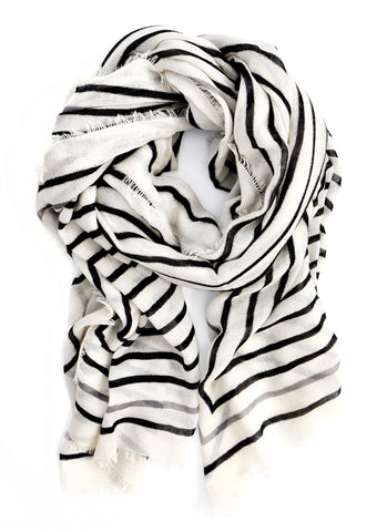 Concentric Lines Wool-Cashmere Scarf