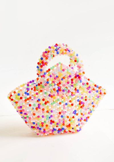 Bright Confetti Beaded Bag