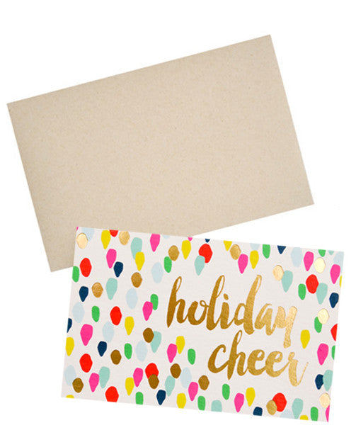 Confetti Drops Holiday Cheer Card Set - LEIF