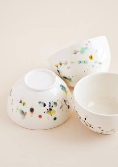 Confetti Ceramic Ice Cream Bowl