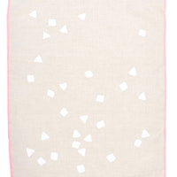 Natural / White: Confetti Tea Towel in Natural / White - LEIF
