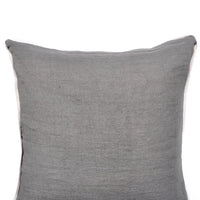 Contrast Trim Linen Pillow Cover - LEIF