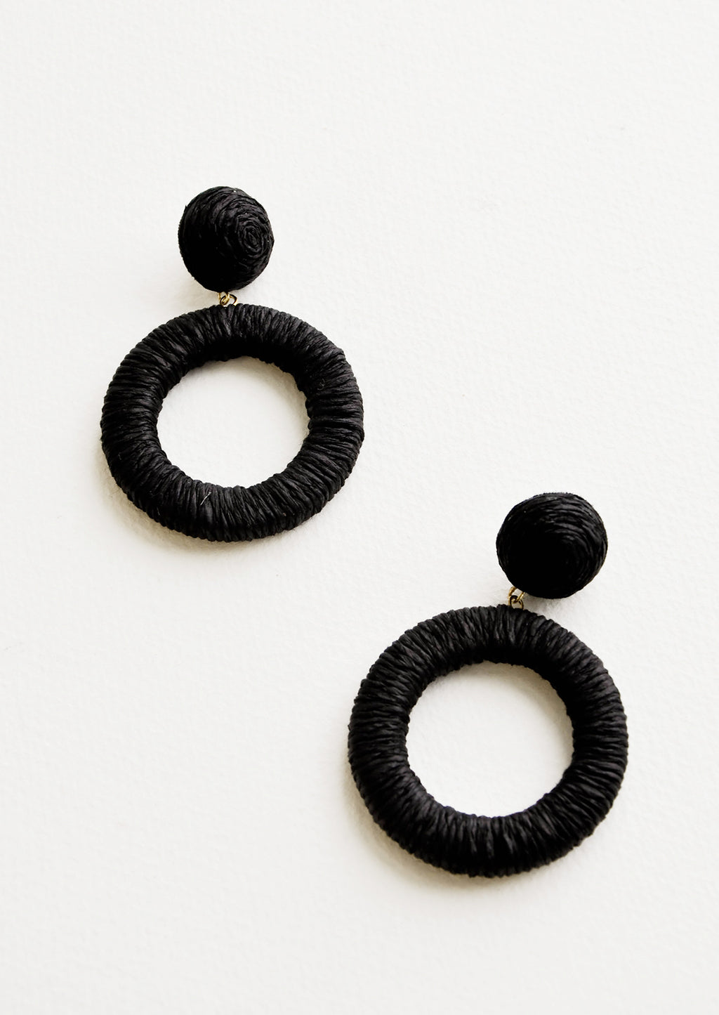 Black: Copacabana Earrings in Black - LEIF