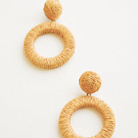 Tan: Copacabana Earrings in Tan - LEIF