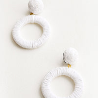 White: Copacabana Earrings in White - LEIF