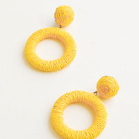 Yellow: Copacabana Earrings in Yellow - LEIF