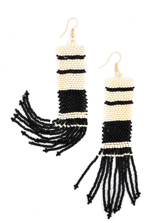 1: Coquina Beaded Earrings in  - LEIF